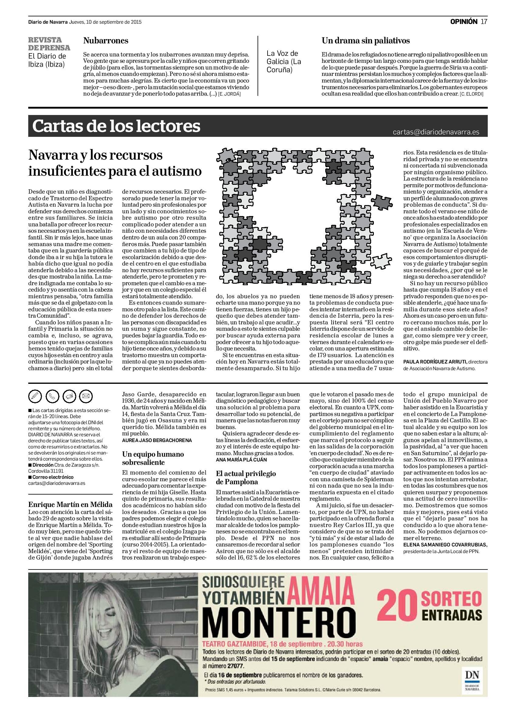 20150910 - Diario de Navarra - Opinión - pag 17 recursos insuficientes