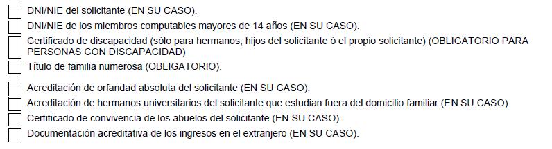Becas Ministerio documentos