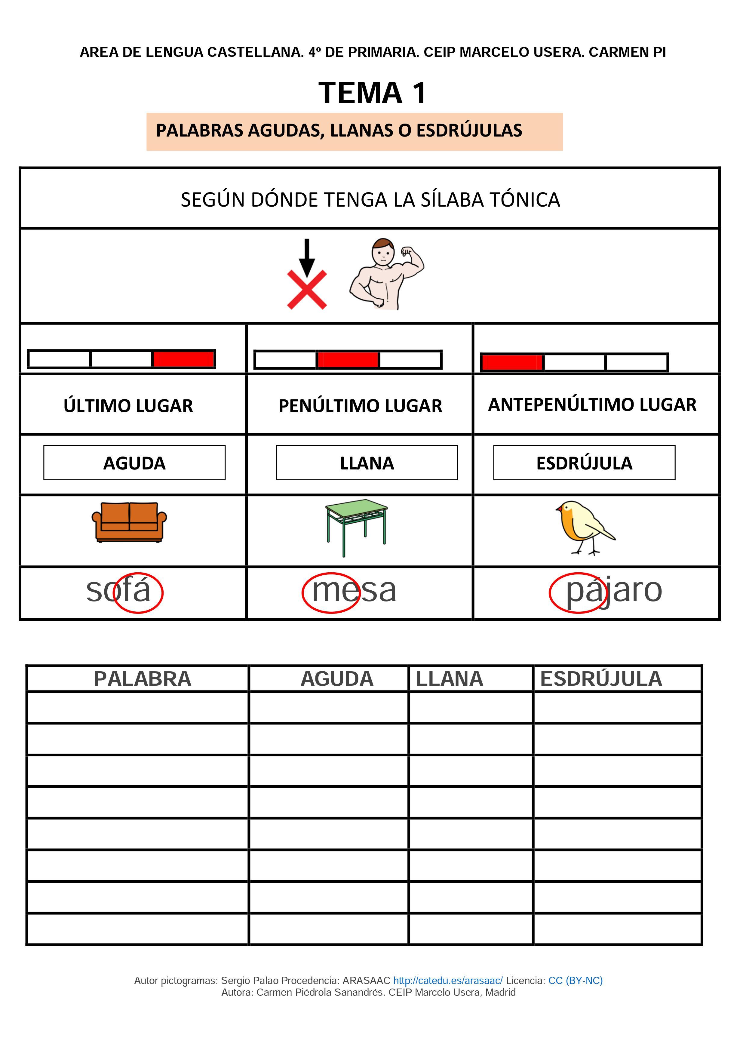 Material Lengua 4º Primaria adaptado | ANA. Asociación Navarra de ...