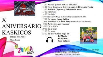 X ANIVERSARIO KASKICOS